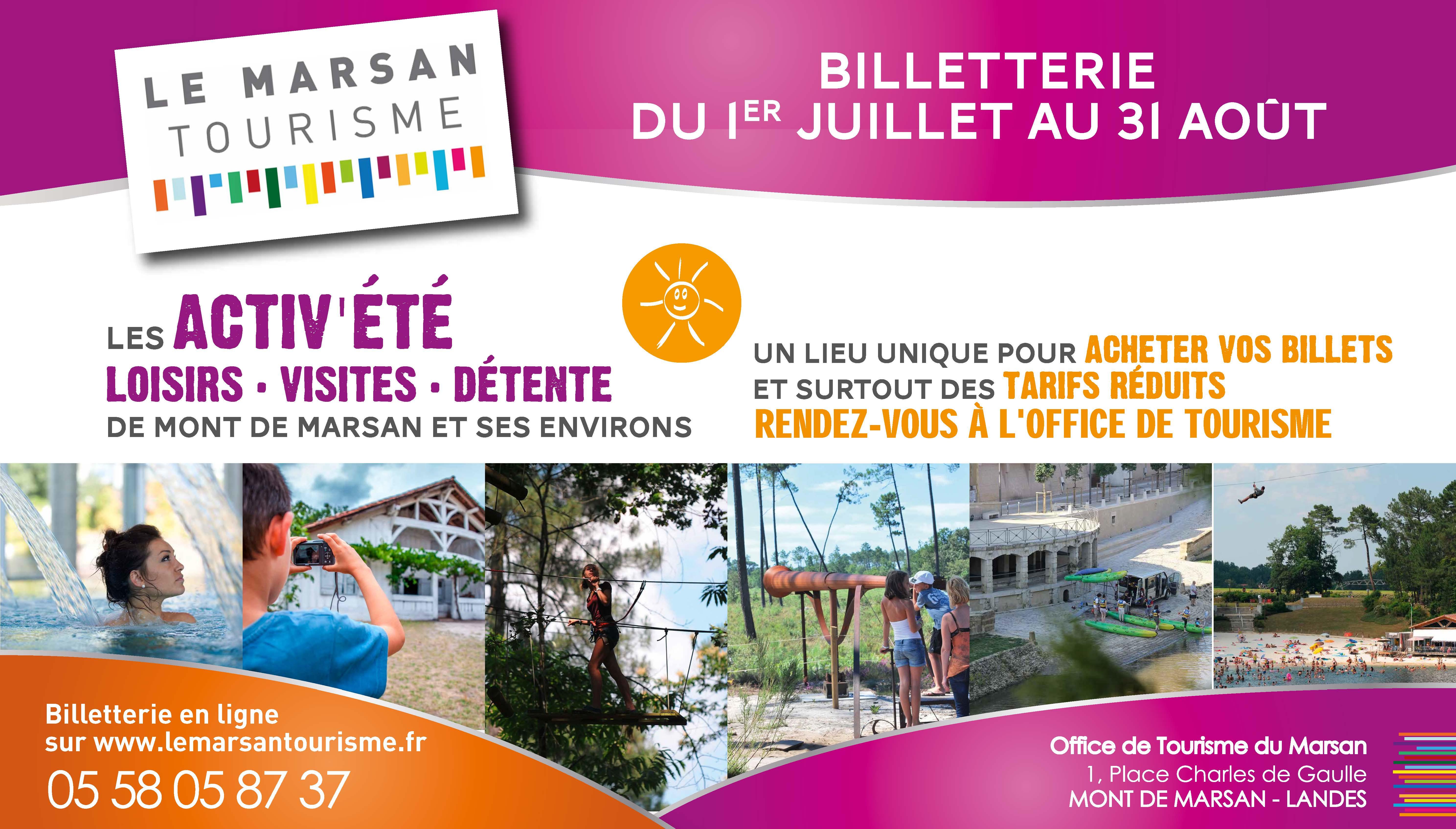 31eaf9425a019 Office de Tourisme du Marsan Billetterie