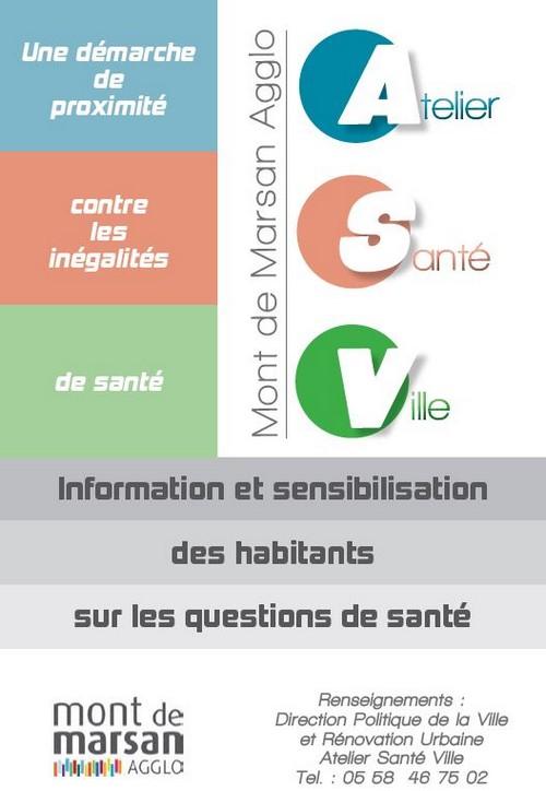 image : Flyer Atelier Santé Ville - mont de Marsan Agglo