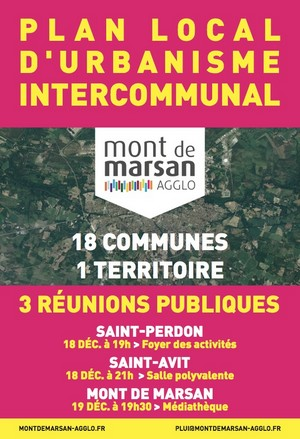 image : Affiche réunions publiques Plui décembre 2018 - Mont de Marsan Agglo