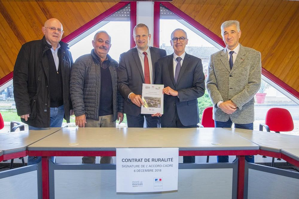 image : Signature du Contrat de ruralité - Mont de Marsan Agglo