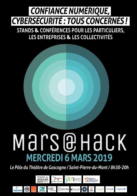 image : Flyer Confiance numérique - Cybersécurité 6 mars 2019 - Mont de Marsan Agglo