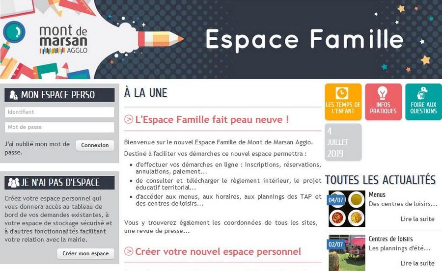 image : Espace Famille version 2019 - Mont de Marsan Agglo