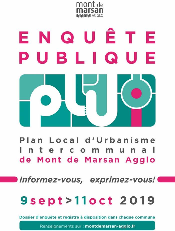 image : Affiche Enquête publique PLUi 9 sept - 11 oct 2019 - Mont de Marsan Agglo
