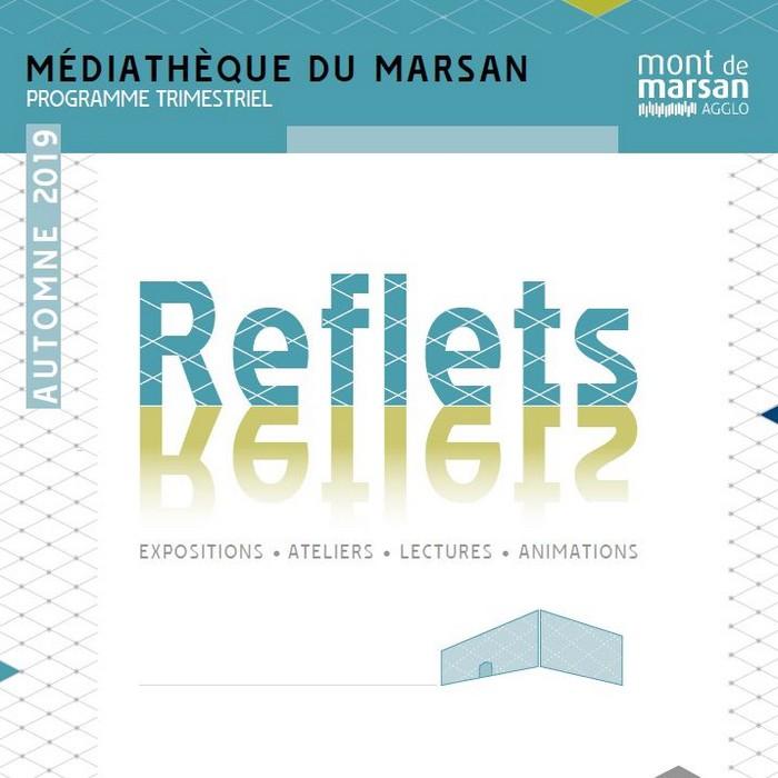 image : Couverture Reflet automne 2019 - Médiathèque Mont de Marsan Agglo