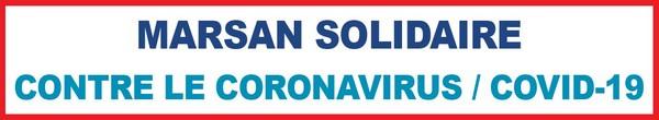 image : Bandeau Mont de Marsan solidaire Contre le Cornavirus