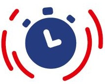 image : Chronometre bleu et rouge