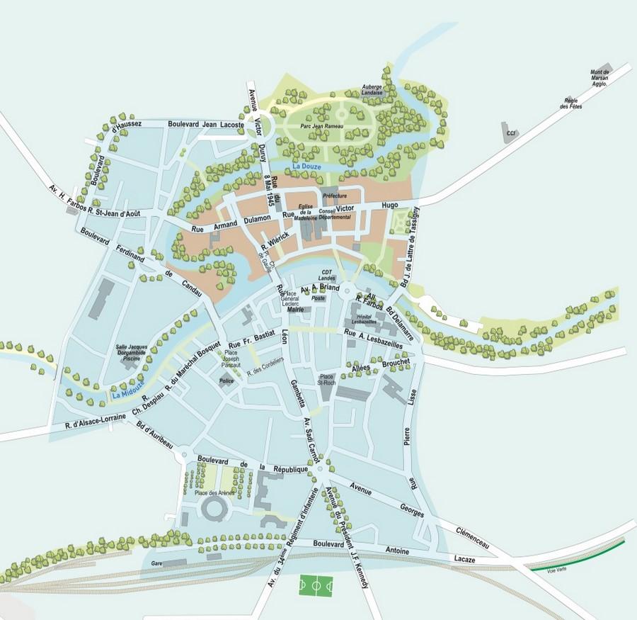 image : Plan de Mont de Marsan